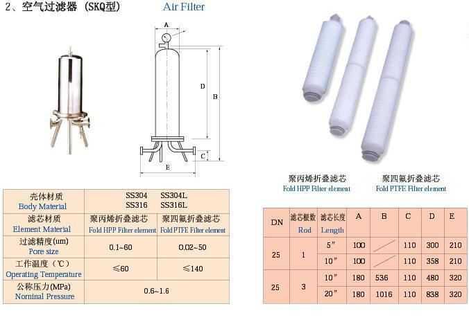 空气(氧气,氮气,氢气)过滤器