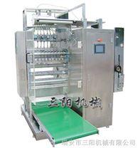 医药食品化工智能型四边封多列液体包装机