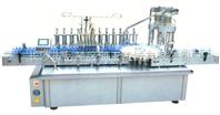 提供武汉全自动柱塞式十头液体灌装双头旋盖一体机\注射器灯检机